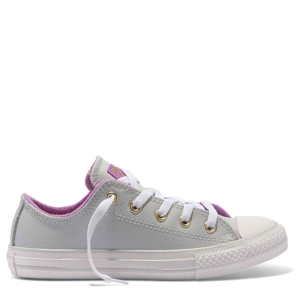 Converse Kids Chuck Taylor All Star Playground Neutrals Junior Low Top Pure Platinum Afterpay