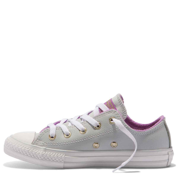 Converse Kids Chuck Taylor All Star Playground Neutrals Junior Low Top Pure Platinum zipPay