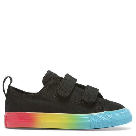 best sneakers 1e7d9 d821d Converse Kids Chuck Taylor All Star Rainbow Ice Toddler 2V Low Top Black -  Tiny Style