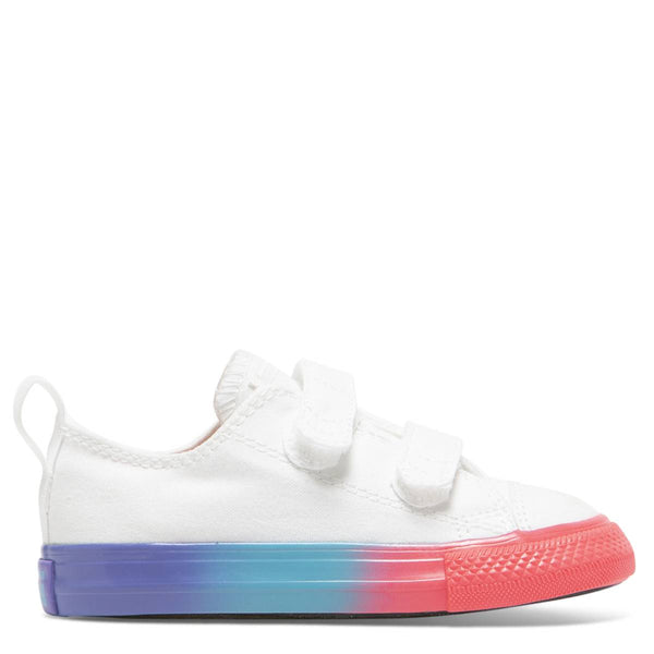 Converse Kids Chuck Taylor All Star Rainbow Ice Toddler 2V Low Top White