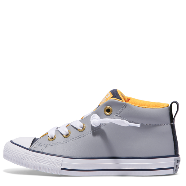 Converse Kids Chuck Taylor All Star Street Leather Junior Mid Wolf Grey Australia