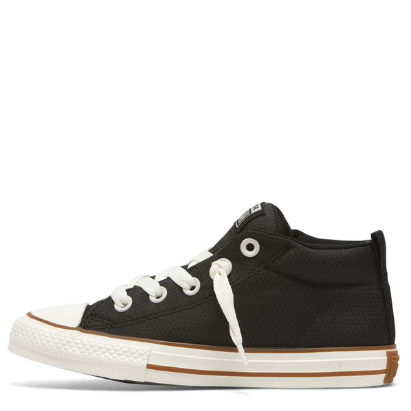 Converse Kids Chuck Taylor All Star Street Pinstripe Junior Mid Top Black Australia