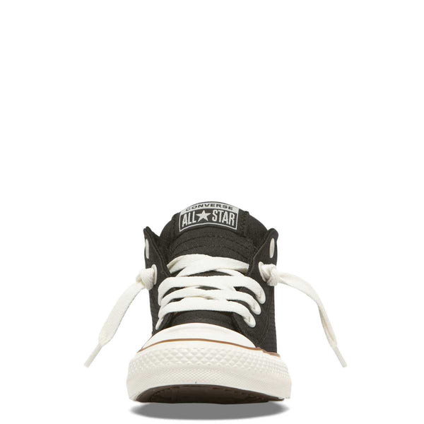 Converse Kids Chuck Taylor All Star Street Pinstripe Junior Mid Top Black Tiny Style