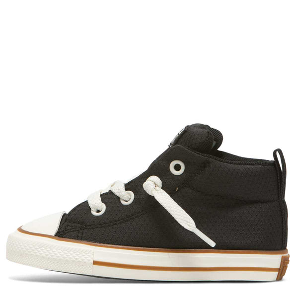 Converse Kids Chuck Taylor All Star Street Pinstripe Toddler Mid Top Black Australia