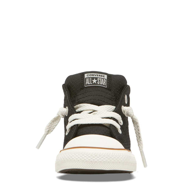 Converse Kids Chuck Taylor All Star Street Pinstripe Toddler Mid Top Black Tiny Style