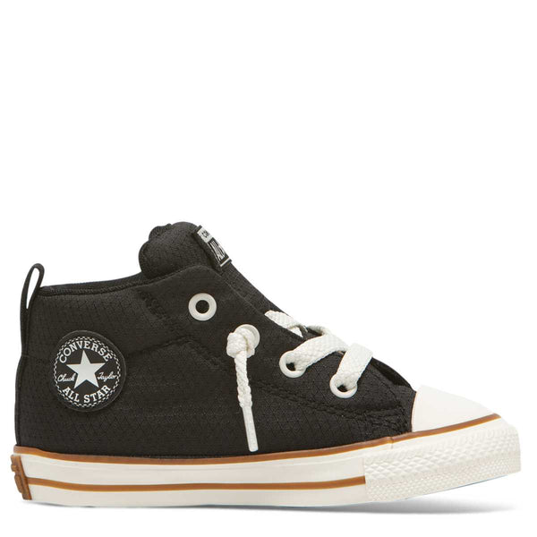 Converse Kids Chuck Taylor All Star Street Pinstripe Toddler Mid Top Black Afterpay