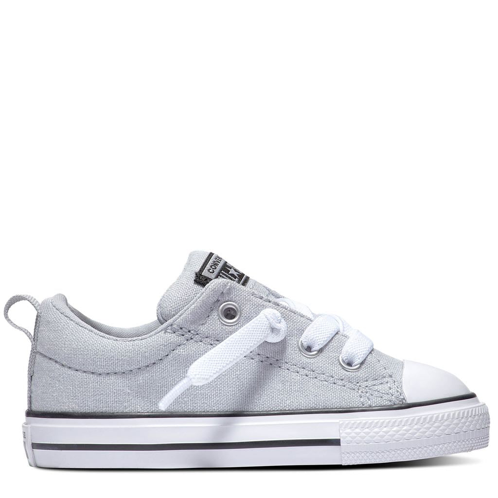Converse Kids Chuck Taylor All Star Street Slip Toddler Low Top Wolf Grey