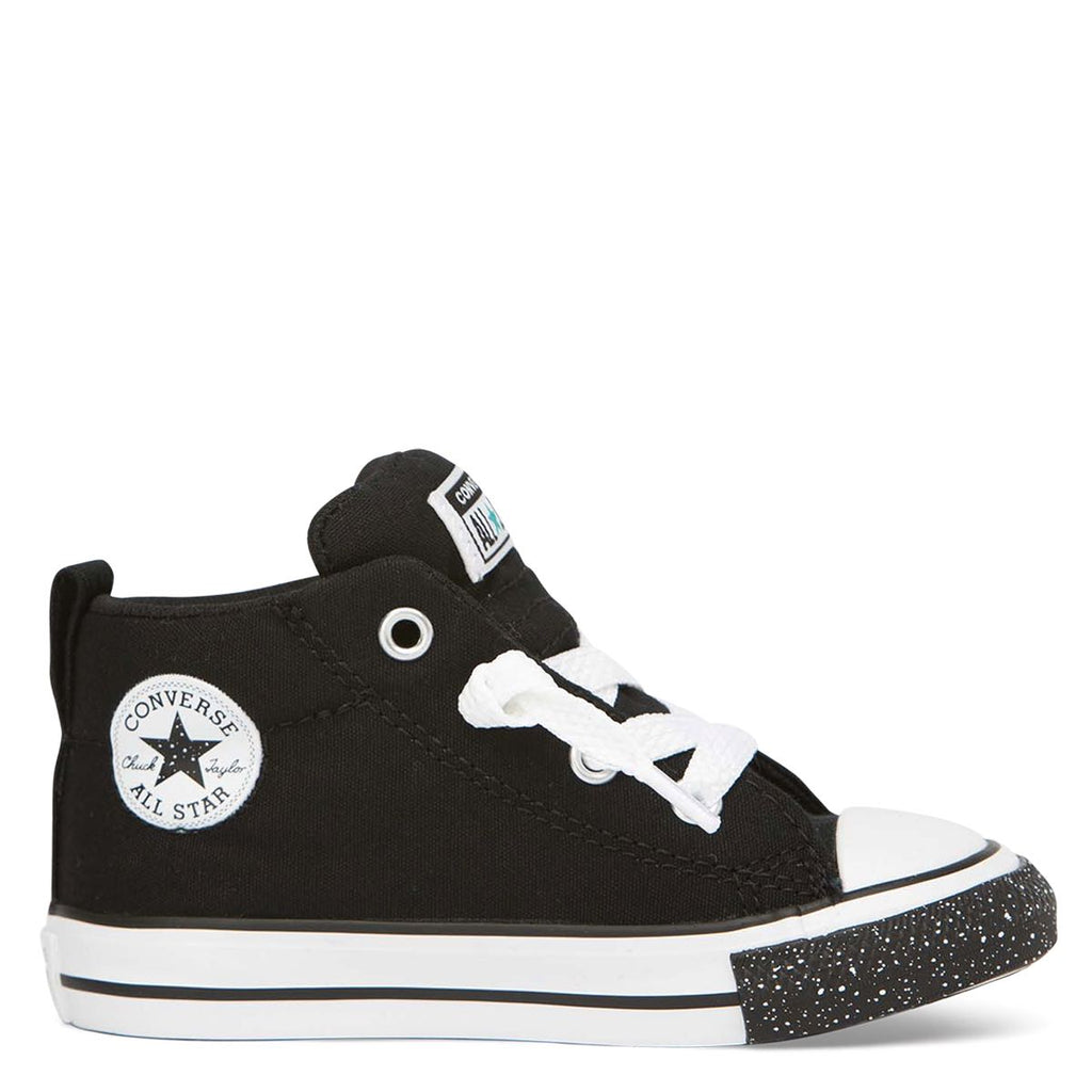 Converse Kids Chuck Taylor All Star Street Speckle Toe Toddler Mid Black | Last Two