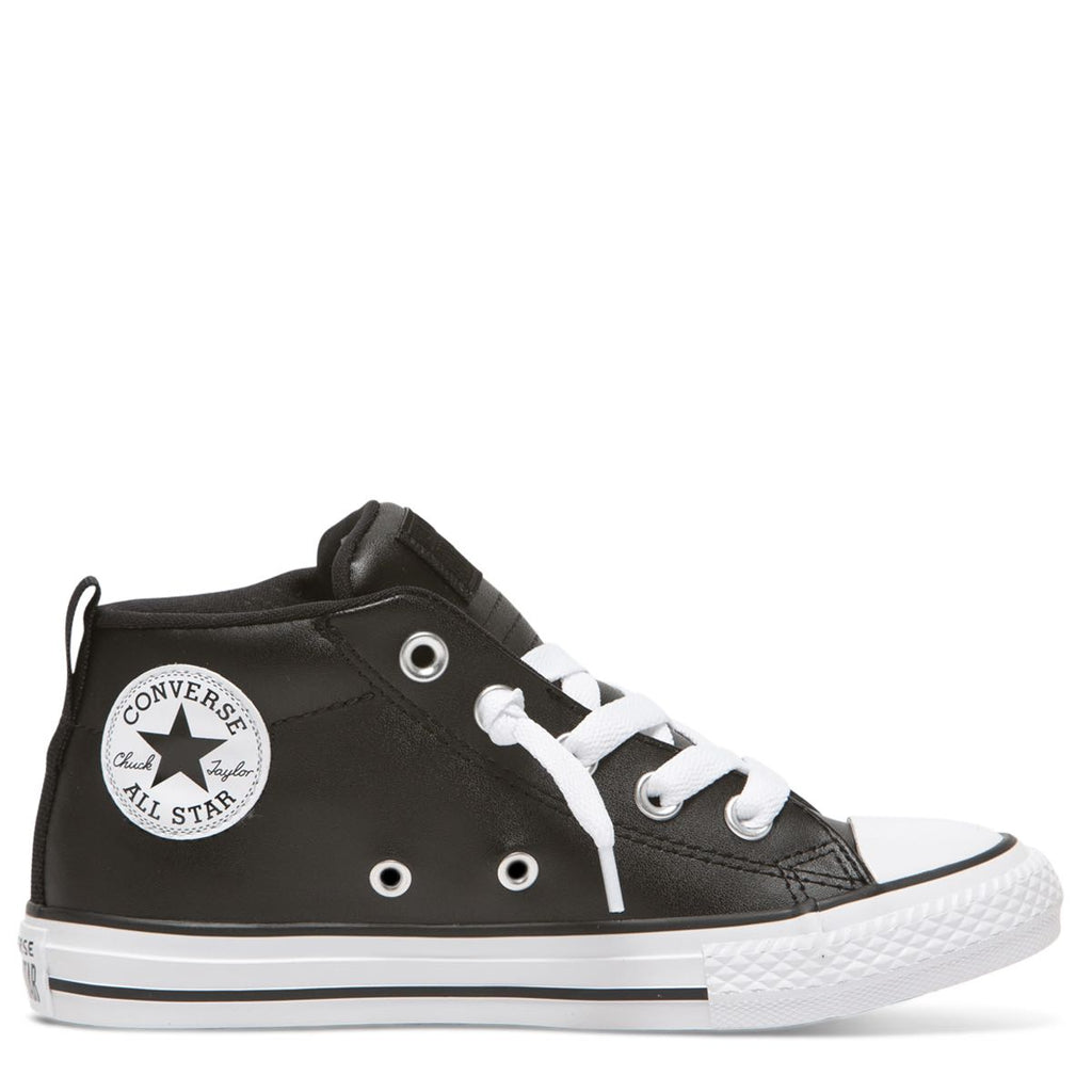 Converse Kids Chuck Taylor All Star Street Spring Essentials Junior Mid Black