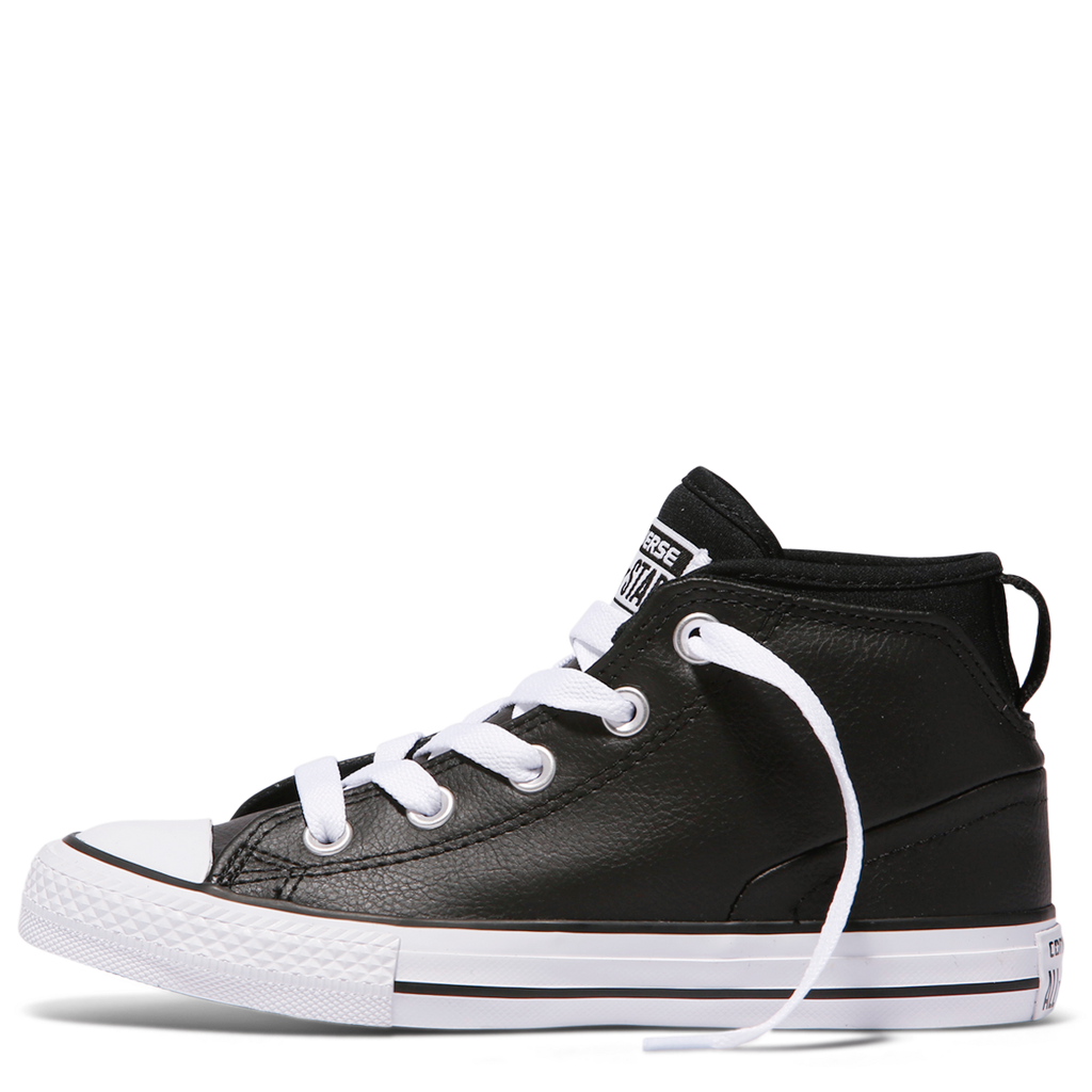 3716ae8eb28a ... Converse Kids Chuck Taylor All Star Syde Street Leather Youth Mid