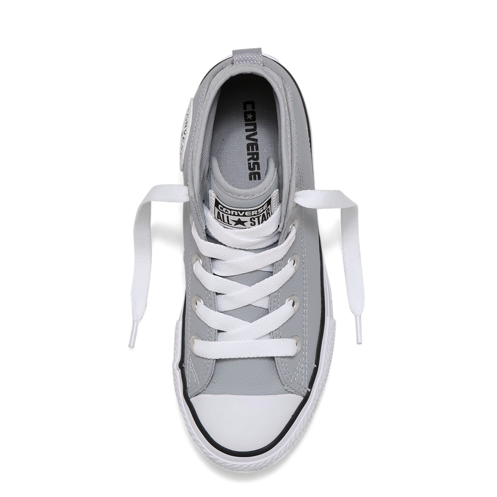 d16a285d1d7a ... Converse Kids Chuck Taylor All Star Syde Street Leather Youth Mid Wolf  Grey ...