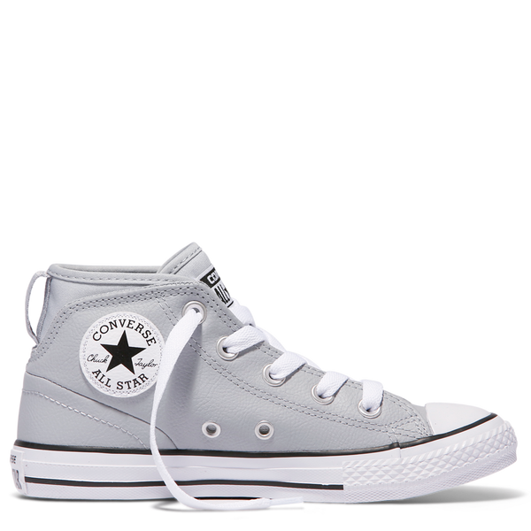 Converse Kids Chuck Taylor All Star Syde Street Leather Youth Mid Wolf Grey