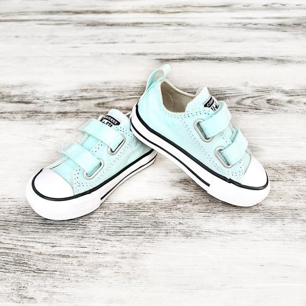 Converse Kids Chuck Taylor All Star Toddler 2V Low Top Teal Tint