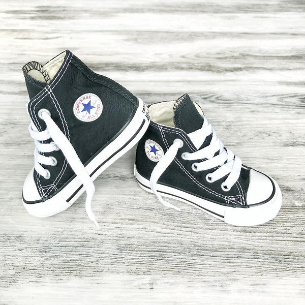 Converse Kids Chuck Taylor All Star Toddler High Top Black Tiny Style