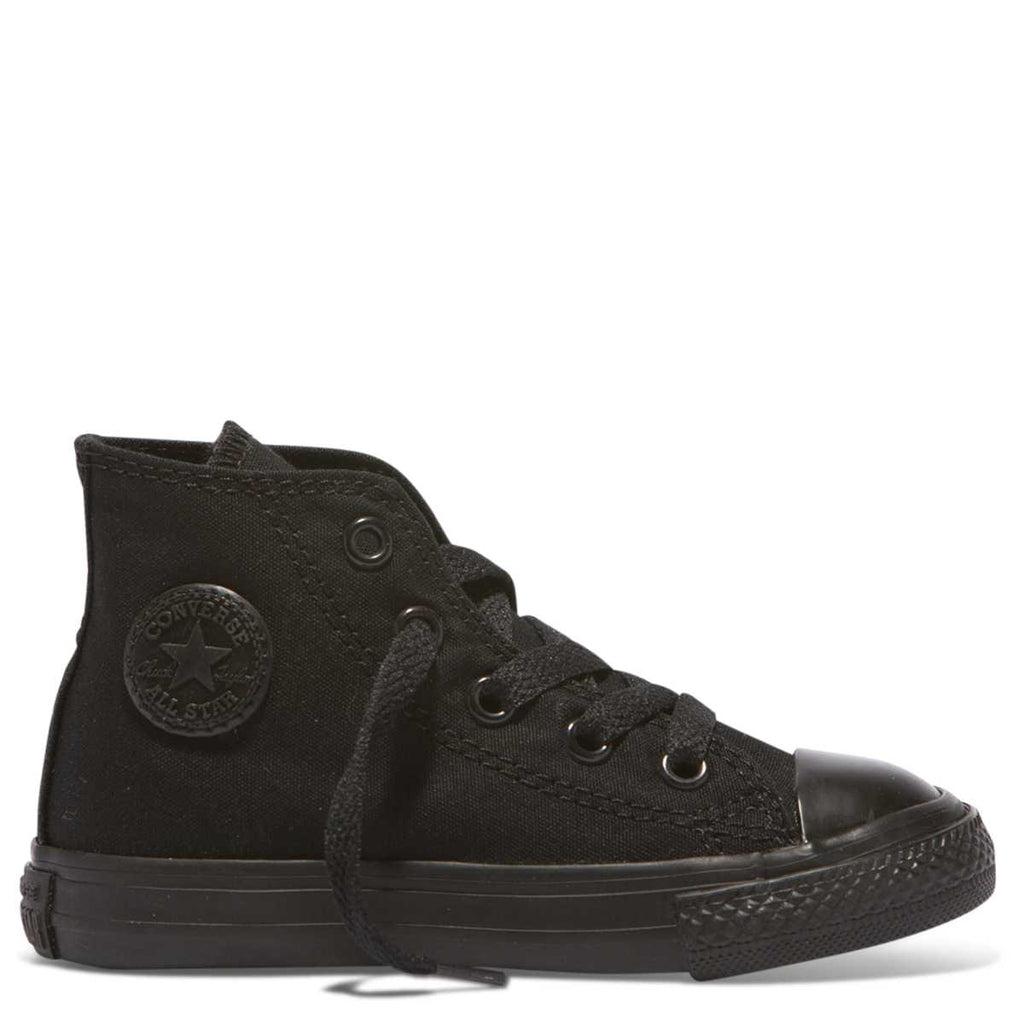 39e60d85b69a29 Converse Kids Chuck Taylor All Star Toddler High Top Black Monochrome  Afterpay