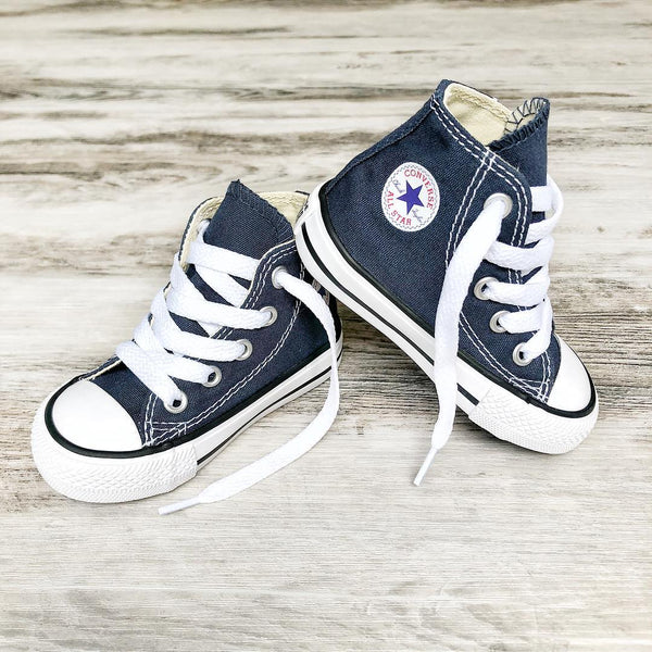Converse Kids Chuck Taylor All Star Toddler High Top Navy Tiny Style