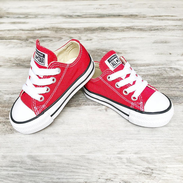 Converse Kids Chuck Taylor All Star Toddler Low Top Red
