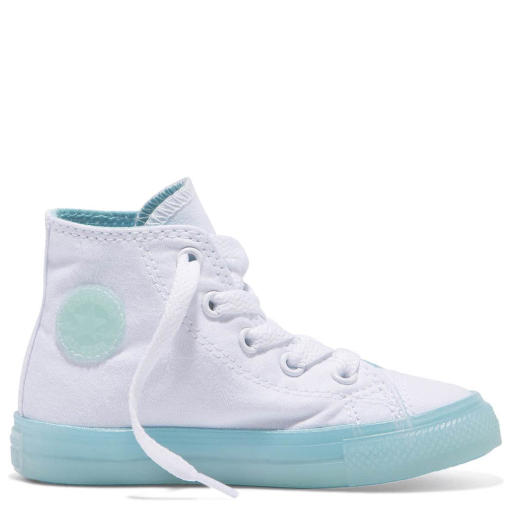 Converse Kids Chuck Taylor All Star Translucent Colour Midsole Toddler High  Top Bleached Aqua Afterpay 1bb312426
