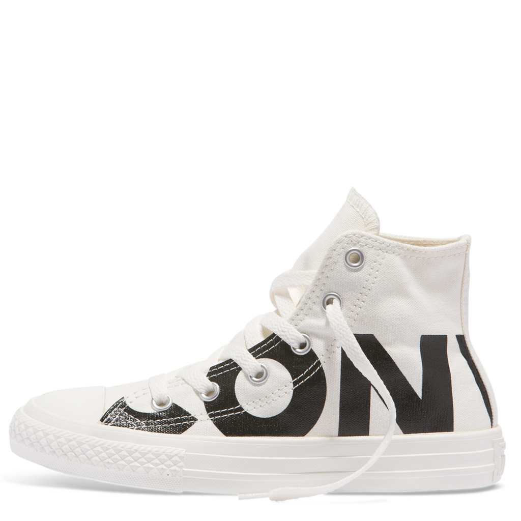 22116bc7ed1c ... Converse Kids Chuck Taylor All Star Wordmark Junior High Top Black  Afterpay ...