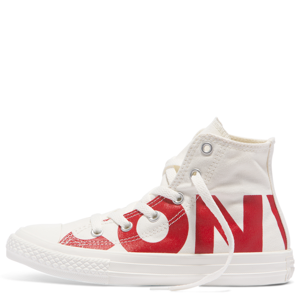 Converse Kids Chuck Taylor All Star Wordmark Junior High Top Red Afterpay