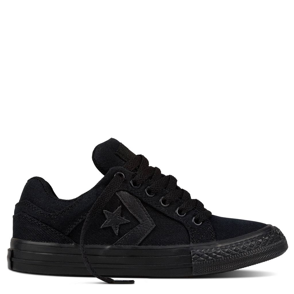 Converse Kids Distrito Junior Low Top Black | Size US 12 Last One