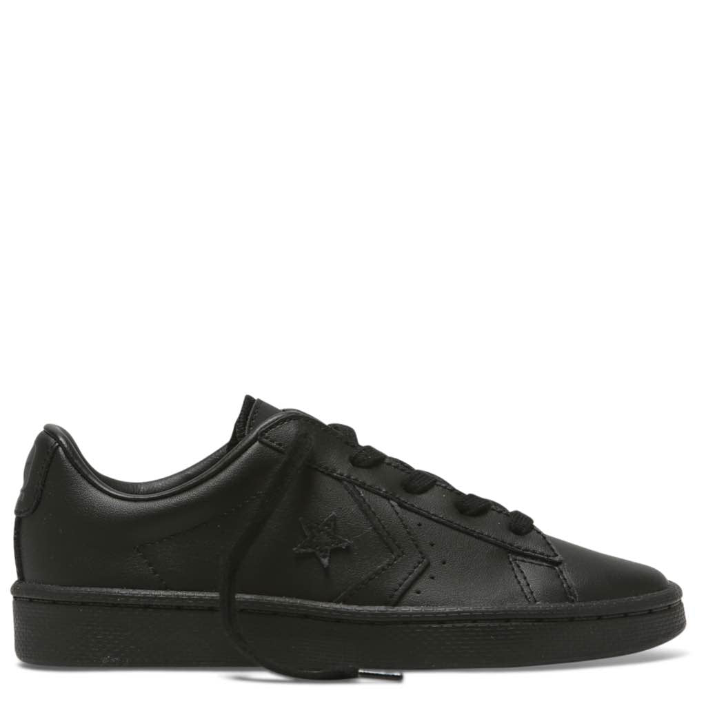 1b331663aa76 Converse Kids Pro Leather 76 Leather Low Top Junior Black
