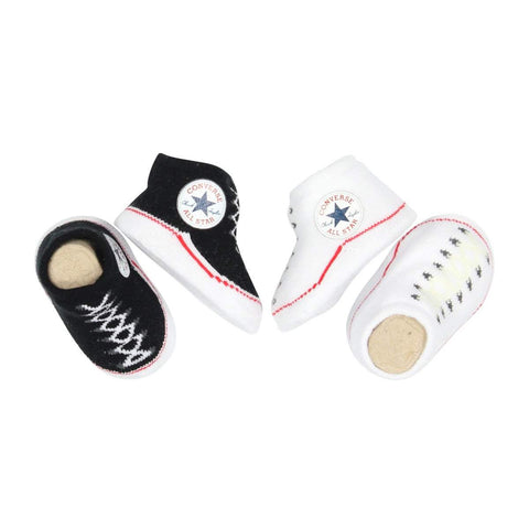 Baby Converse Chuck Taylor Newborn Knit Booties | Black Afterpay