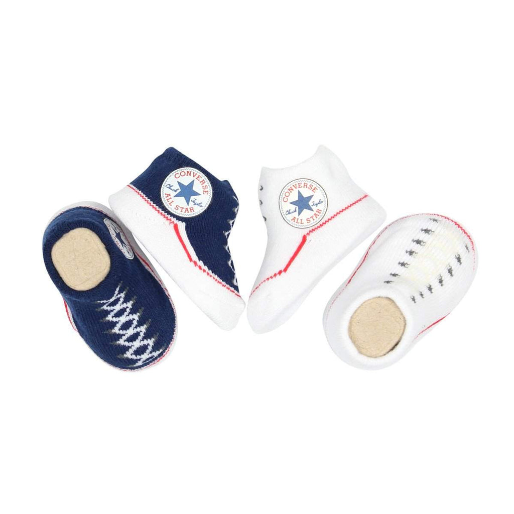 Baby Converse Chuck Taylor Newborn Knit Booties | Navy Afterpay