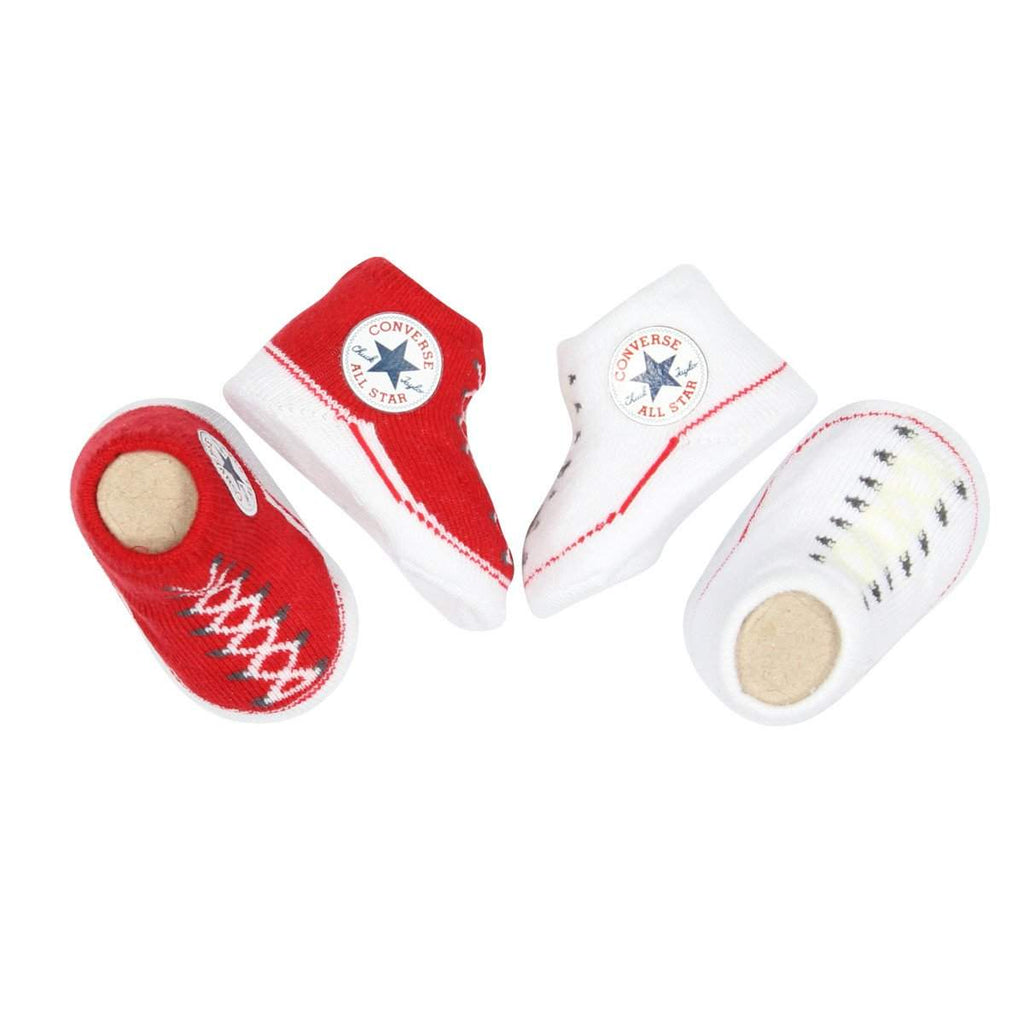 Baby Converse Chuck Taylor Newborn Knit Booties | Red Afterpay