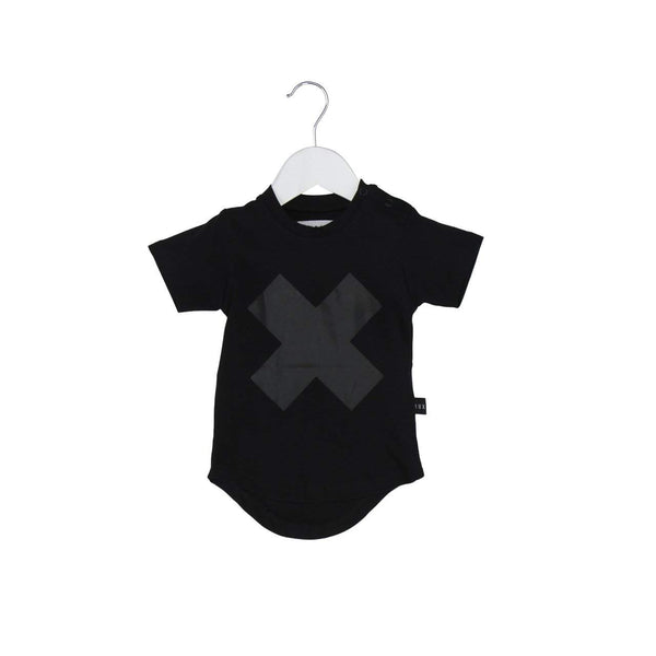 Huxbaby Black Cross Tee Afterpay