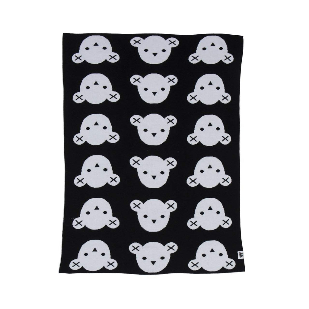 Huxbaby Black Hux Bear Knit Blanket Afterpay