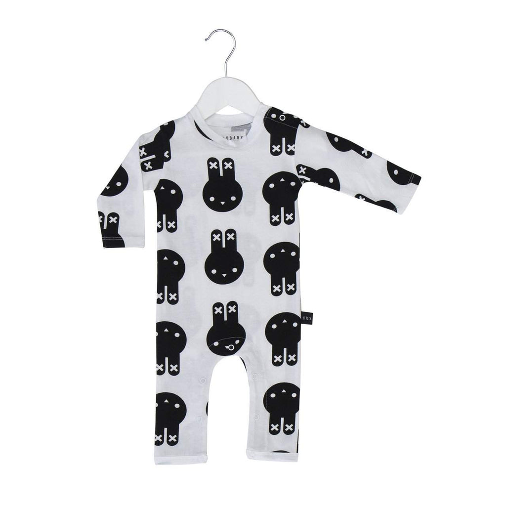 Huxbaby White Hux Bunny Long Romper Afterpay