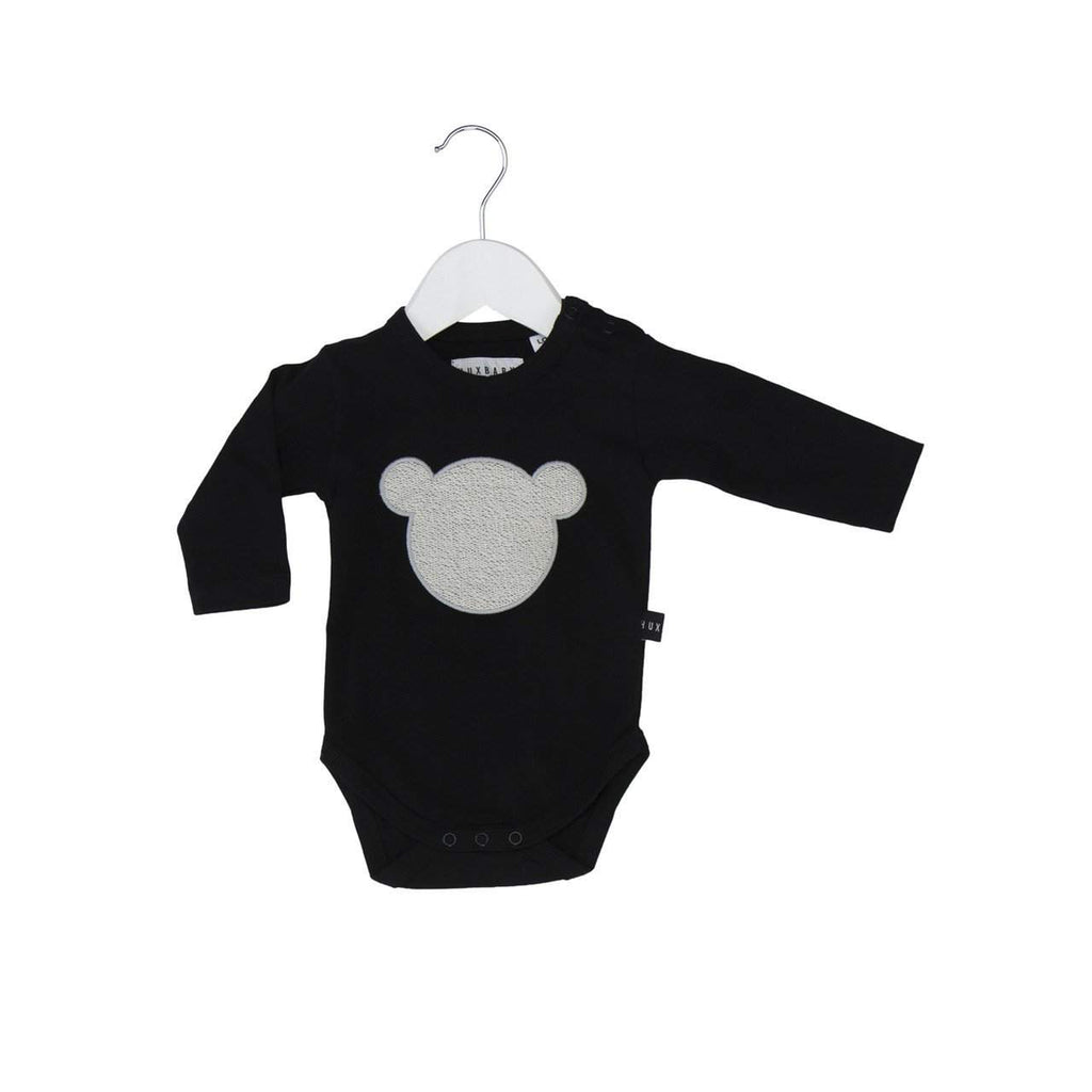 Huxbaby Black Shadow Bear Onesie Afterpay