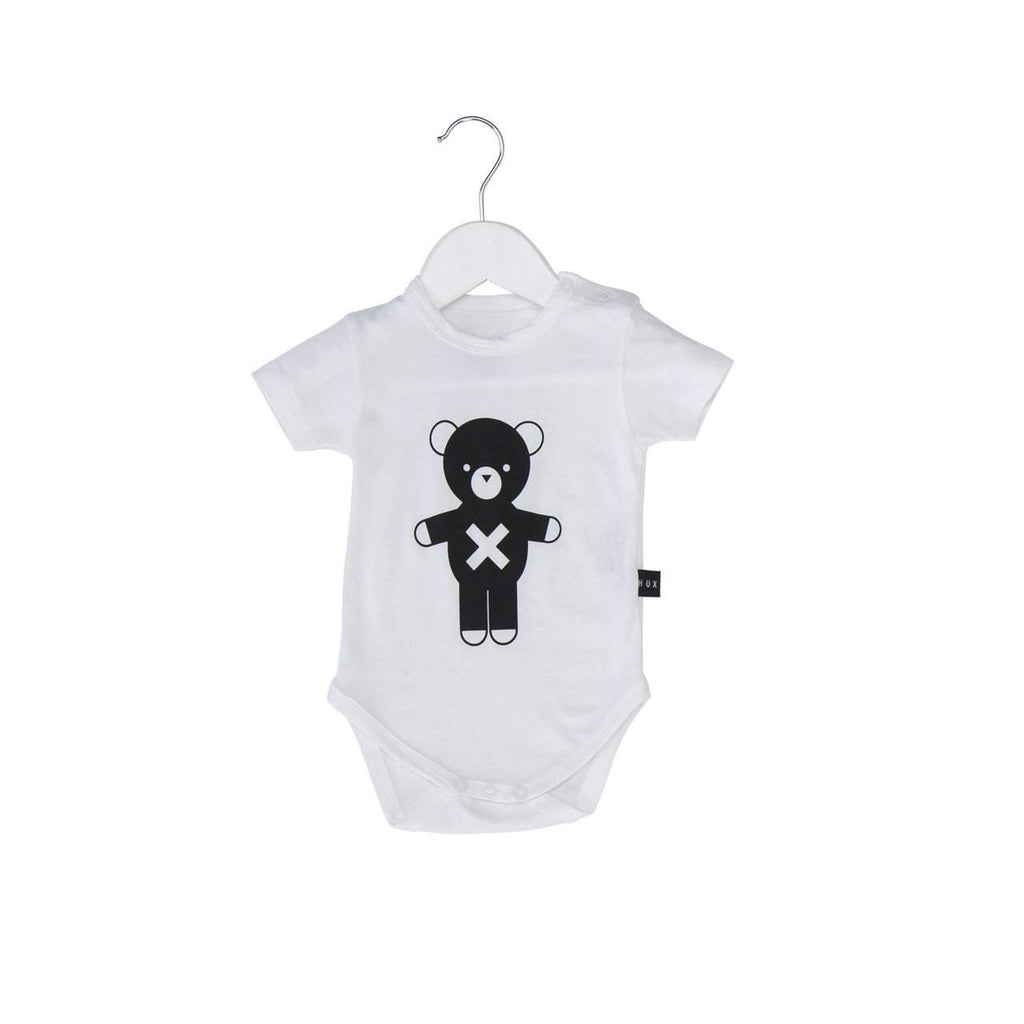 Huxbaby White Soldier Bear Onesie Afterpay