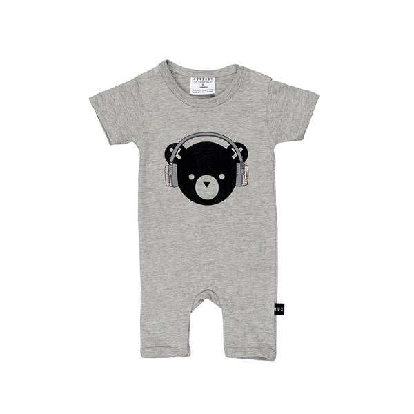 Huxbaby Organic DJ Hux Short Romper Cool Baby Clothes Online Australia