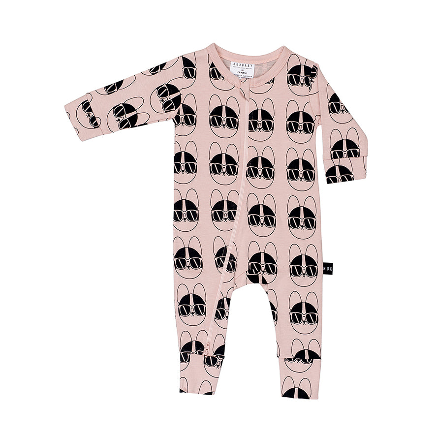 Huxbaby Organic French Shades Zip Romper Cool Baby Clothes Online Australia