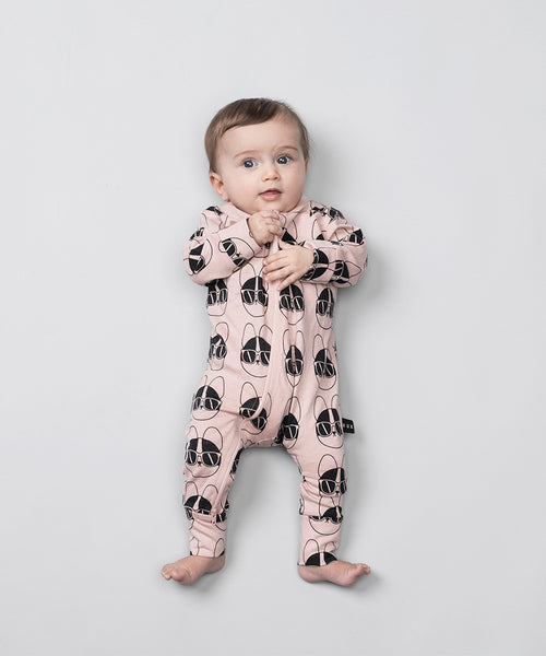 Huxbaby Organic French Shades Zip Romper Cool Baby Girl Clothes Online Australia