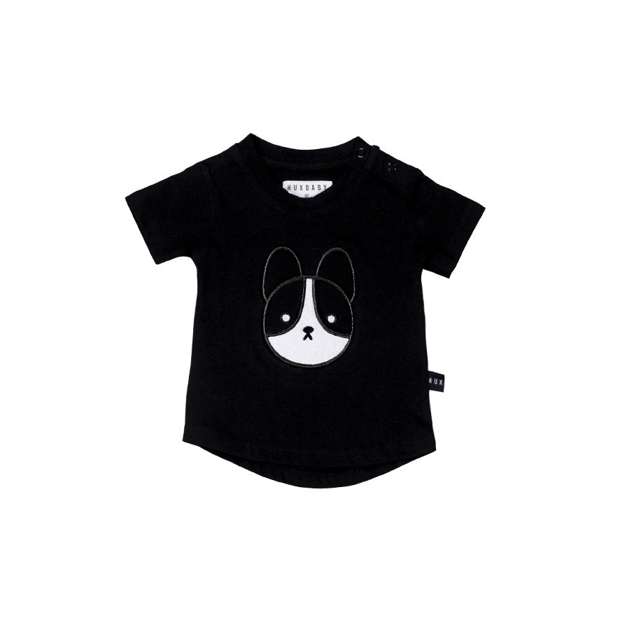 Huxbaby Organic Frenchie Patch Tee Cool Baby Clothes Online Australia