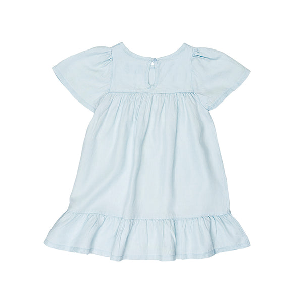 Huxbaby Organic Leah Dress Chambray Cool Kids Clothes Online Australia Afterpay