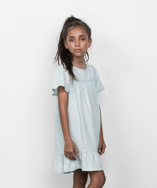Huxbaby Organic Leah Dress Chambray Cool Kids Clothes Online