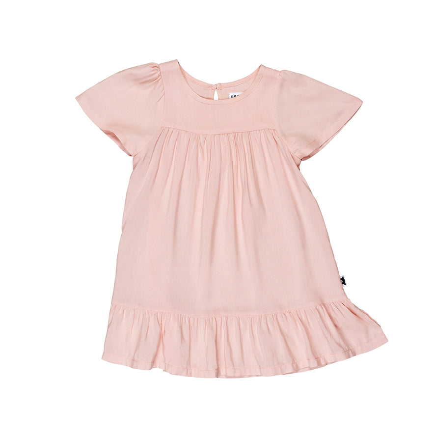Huxbaby Organic Leah Dress Light Pink Cool Kids Clothes Online Australia
