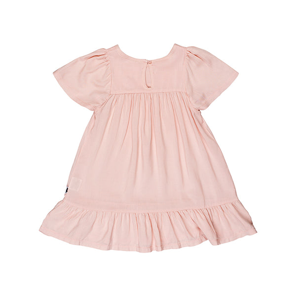 Huxbaby Organic Leah Dress Light Pink Cool Kids Clothes Online Australia Afterpay