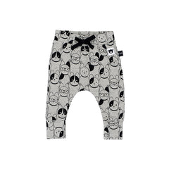 Huxbaby Organic Puppy Love Drop Crotch Pants Cool Baby Clothes Online Australia