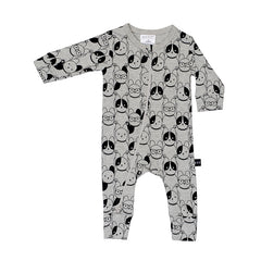 Huxbaby Organic Puppy Love Zip Romper Cool Baby Clothes Online Australia