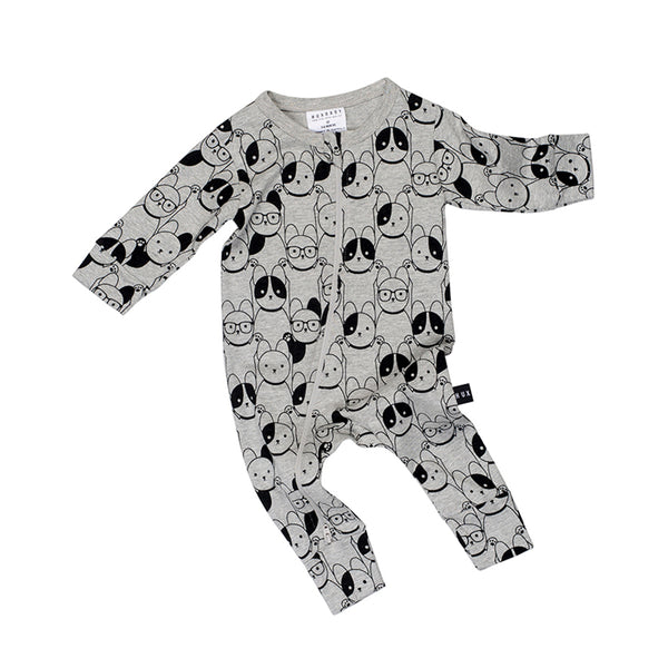 Huxbaby Organic Puppy Love Zip Romper Cool Baby Clothes Online Australia Afterpay