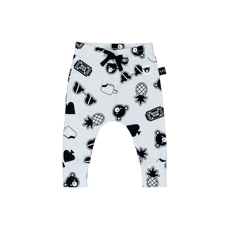 Huxbaby Organic Patches Drop Crotch Pants