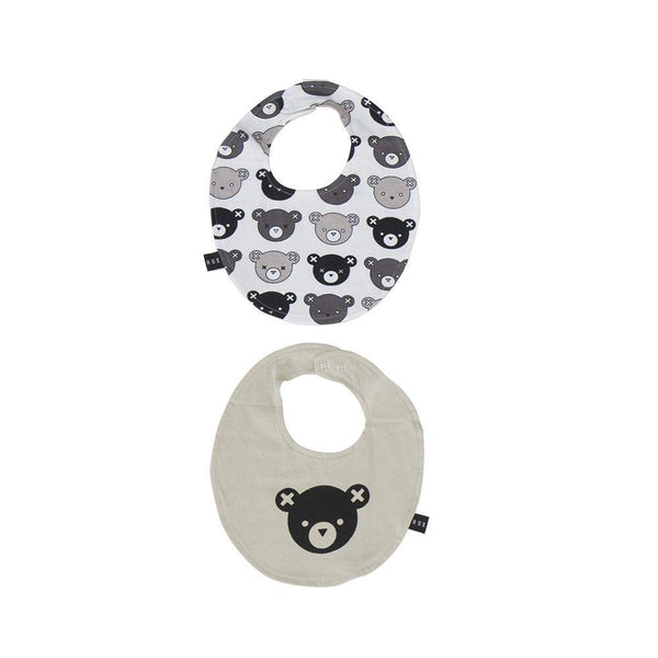 Huxbaby White Emoti Bears Bib Afterpay