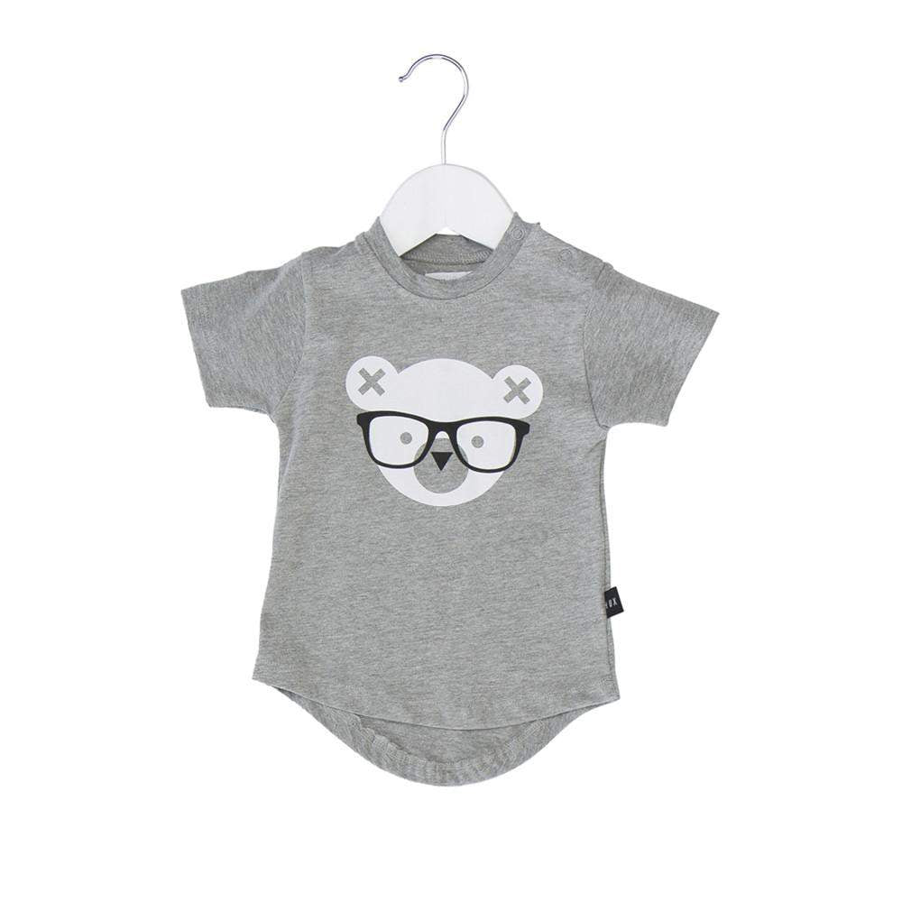Huxbaby Grey Nerd Bear Tee Afterpay