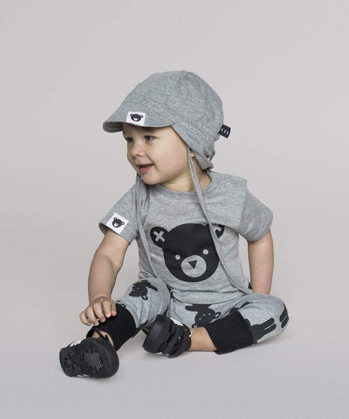 Huxbaby White Angle Bear Summer Hat Afterpay