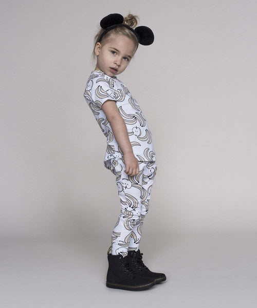Huxbaby White Fruit Mix Leggings